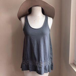 Mossimo Supply Co Lace Contrast Cotton Tank